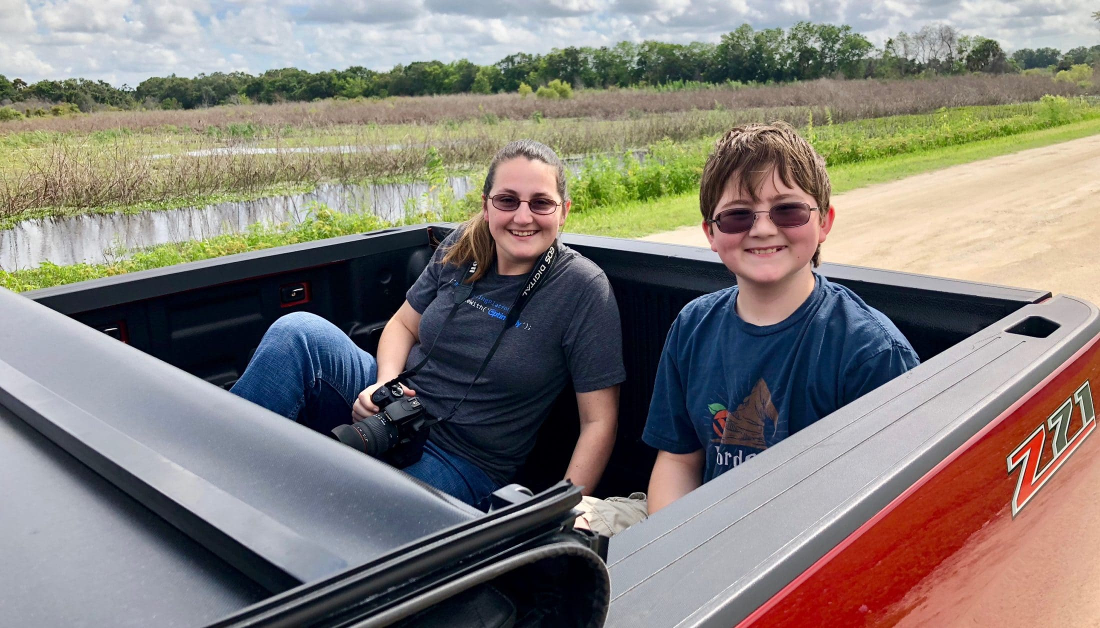 Driving in Lake Apopka Wildlife Drive