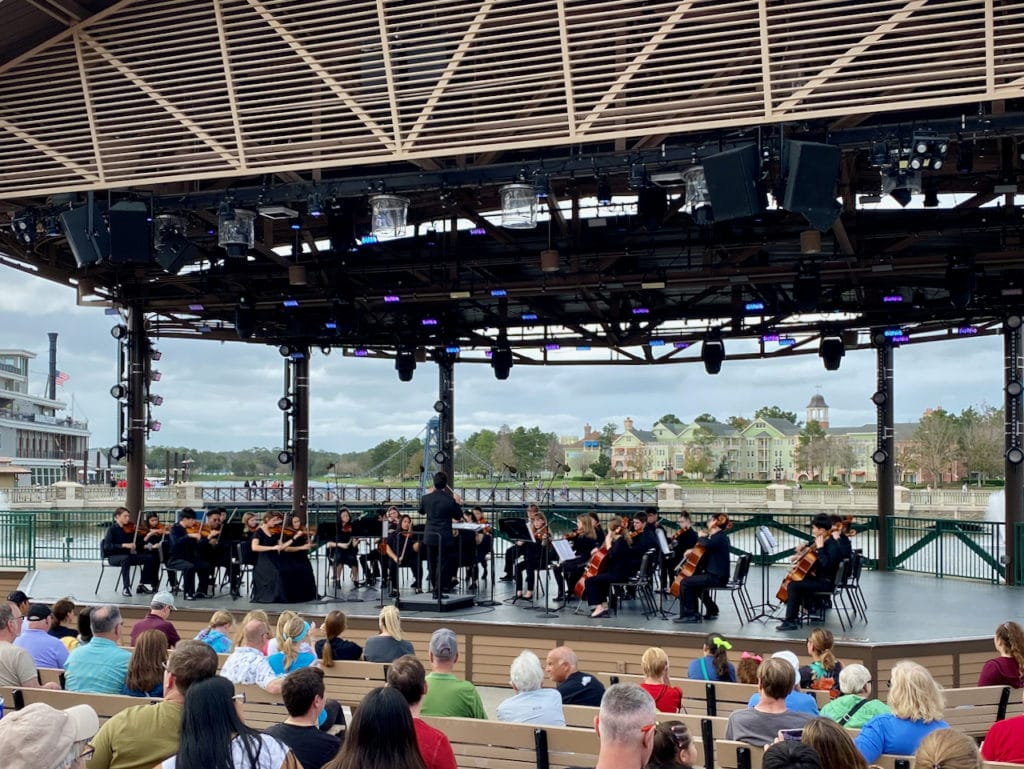 Concert band at Disney Springs