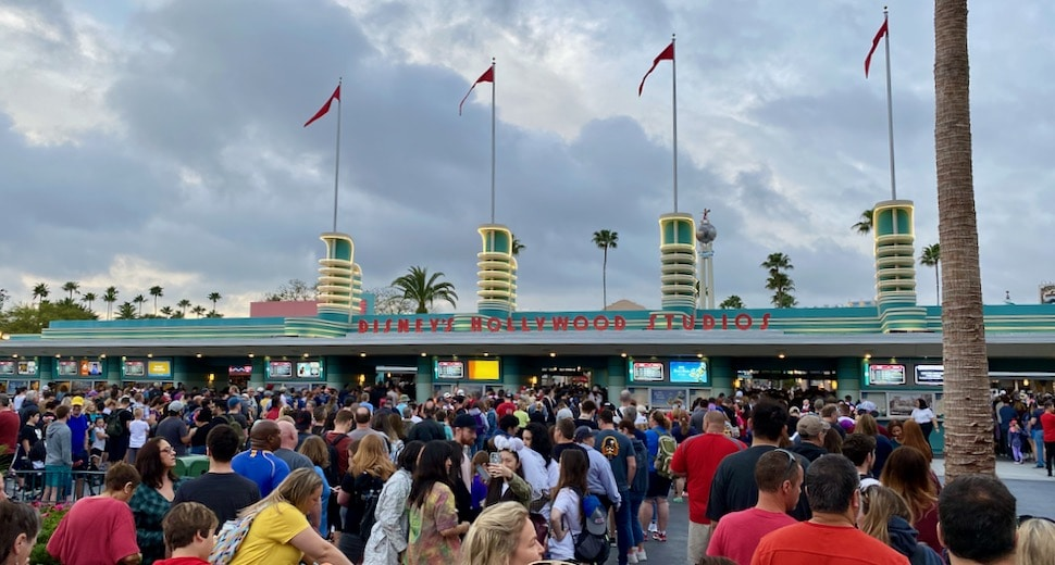 Disney's Hollywood Studios Entrance On A Crowded Day
