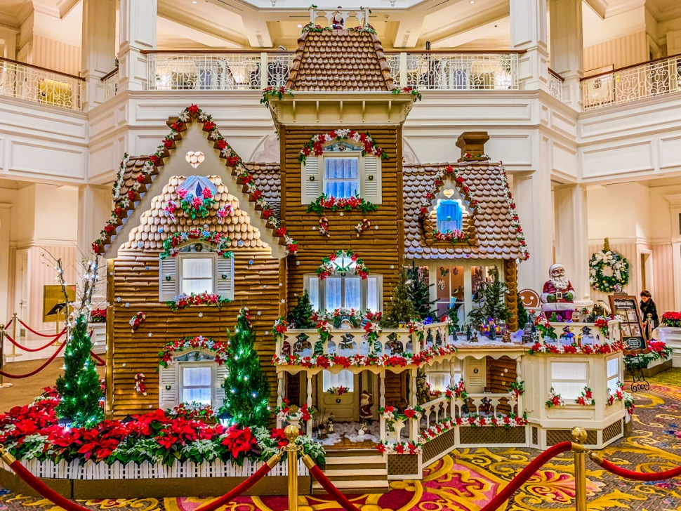 Disney's Grand Floridian Resort Gingerbread Display during Christmas 2019