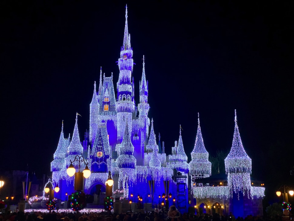 Disney Ice Castle at Magic Kingdom for Christmas 2019