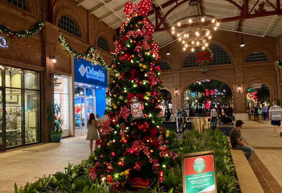Minnie Mouse Christmas Tree at Disney Springs Christmas Tree Stroll