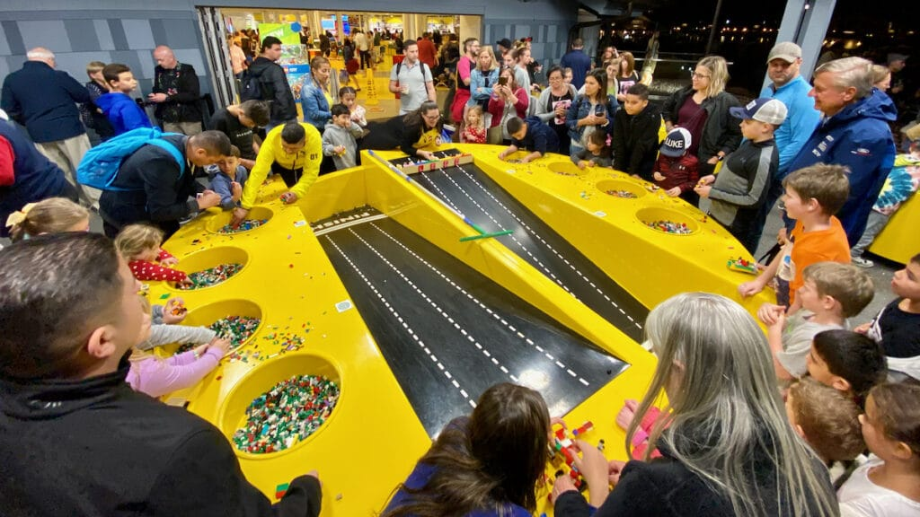 LEGO Store raceway at Disney Springs