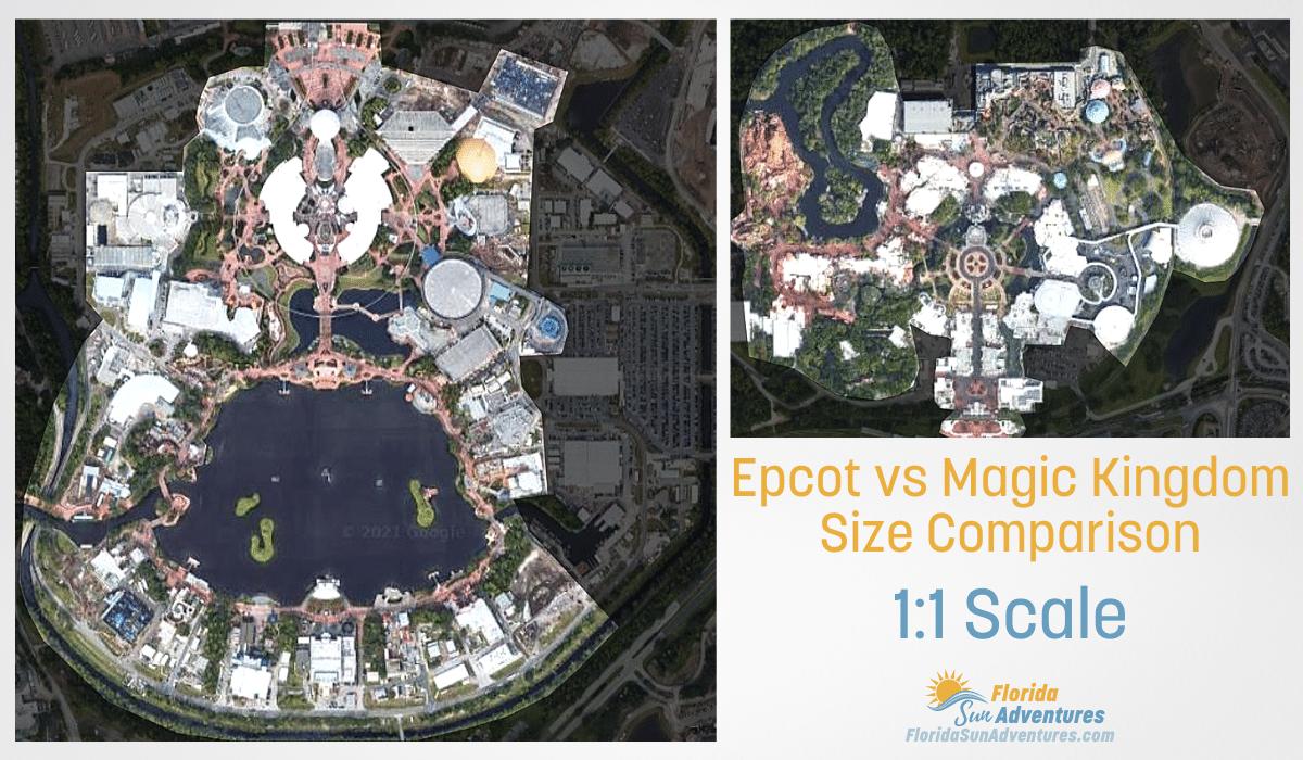 Epcot vs Magic Kingdom Size Comparison